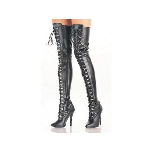 Stretch Boots Overknee with laced fastening